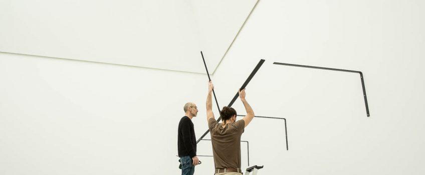 Aufbau der neuen Wanderausstellung in der documenta-Halle abgeschlossen